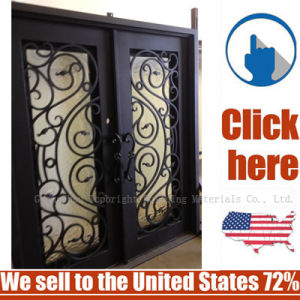 Cheap Price Steel Entrance Wrought Iron Door pictures & photos