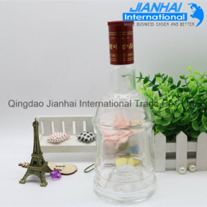 Transparent Round Shape Glass Wine Bottle pictures & photos