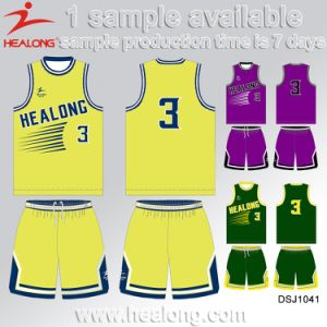 Healong Team Club Sportswear Sublimation Basketball Jersey pictures & photos