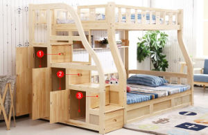 Solid Wooden Bed Room Bunk Beds Children Bunk Bed (M-X2213) pictures & photos