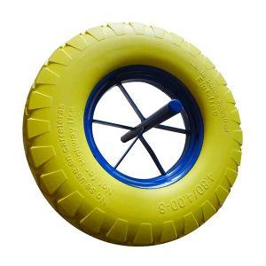 4.80/4.00-8 Wheel Barrow PU Tyre Wheel with 258mm Solid Axle