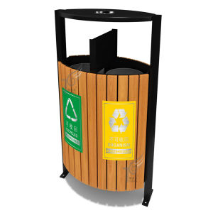 Plastic Wood/Stainless Steel/Aluminum Trash Can Supplier (TEL0453)