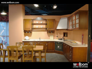 2015 [ Welbom ] Island Style Solid Wood Kitchen Furniture pictures & photos