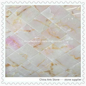 Green Pink Onxy Wall Tile for Villa pictures & photos