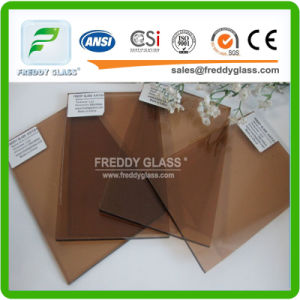 Tinted/Colored/Stained Bronze/Brown Float Glass/Euro Bronze Float Glass/Golden Bronze Float Glass/Ford Blue/Dark Blue/Ocean Blue/Lake Blue/Pink Float Glass pictures & photos