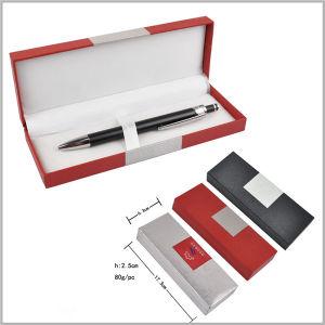 ABS Paper Plastic Box Opening White Inner Aluminum Laser Logo Gift Sets