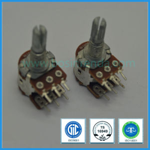 16mm Dual Unit Rotary Potentiometer for Mixer pictures & photos