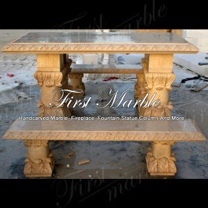 Desert Gold Bench & Table for Home Decoration Mbt-1001 pictures & photos