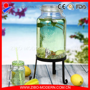 High Quality Clear Juice Dispenser Glass Bottle pictures & photos