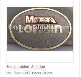 Zinc Alloy Customized Metal Emblem pictures & photos