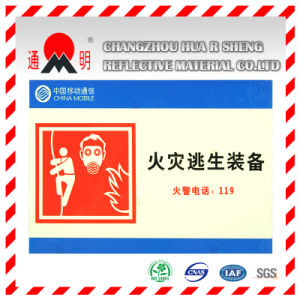 Pet/PVC Photo Luminescent Reflective Film for Fire Signs (FG301) pictures & photos