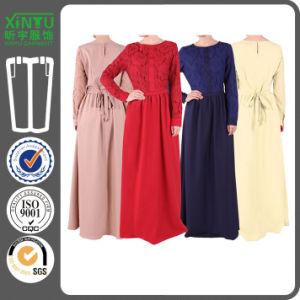 2016 Women Muslim Lace Chiffon Long Sleeve Maxi Abaya Kaftan pictures & photos