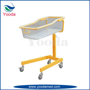 Stainless Steel Frame Baby Cot with Castors pictures & photos