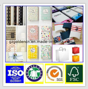 Gift Wrapping 70GSM Light Weight Coated Paper/Lwc Paper pictures & photos