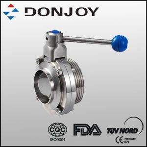 Sanitary Single Weld Single Thread Butterfly Valve with Pull Handle pictures & photos