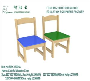 Nursery School Kids Colored Wooden Chair
