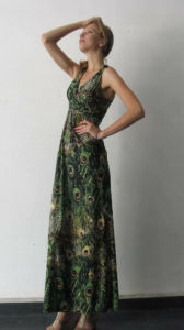 High Quality Fashion V-Neck Printing Ladies Sleeveless Casual Dress pictures & photos