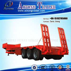 50t-80t 3 Axle Low Bed Semi Trailer for Sale pictures & photos