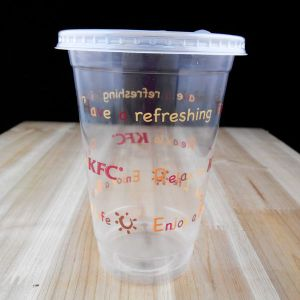 Kfc PP Plastic Cup with Flat Lids