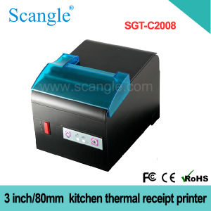 80mm Label POS Thermal Printer 3 Inch Factory Receipt Printer Sgt801 pictures & photos