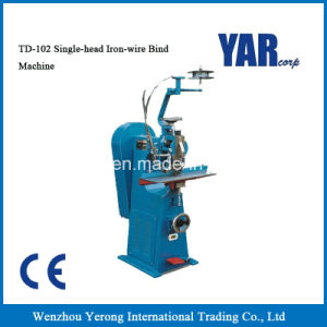 High Quality Td102 Single-Head Iron-Wire Book Bind Machine with Ce pictures & photos