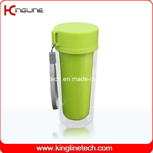350ml Double Wall Plastic Cup Lanyard (KL-5022) pictures & photos