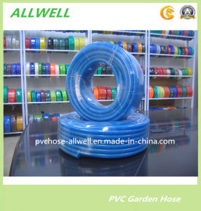PVC Plastic Fiber Braided Water Irrigation Pipe Garden Hose 3/4′′ pictures & photos