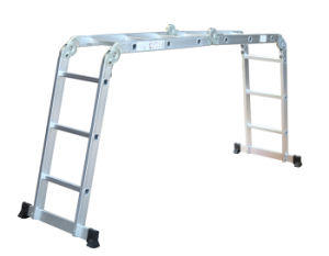 Aluminium En131 Tool Stool Scaffold Work Platform Multipurpose Household with Tray Steel Step Extension Telescopic Folding Ladder 3