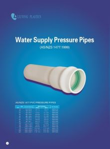 Water Supply Plastic PVC-U Pressure Pipe with AS/NZS1477: 1999 Standard pictures & photos