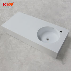 New Design Wall Mounted Corian Washbasin pictures & photos