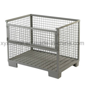 Wire Mesh Cage Pallet Stillage with Four Rigid Sides pictures & photos