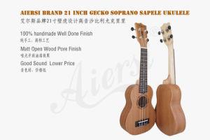 Aiersi Brand 21 Inch Soprano Gecko Plywood Mahogany Ukulele pictures & photos