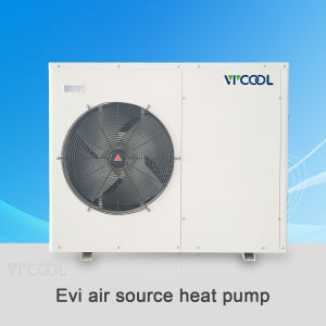 Chinese Heat Pump Water Heater Evi with Copeland Scroll Type Compressor, Chinese Evi Air Water Heat Pump pictures & photos