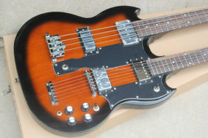 Hanhai Music/Tobacco Sunburst Double Neck Electric Guitar (6+4 Strings) pictures & photos