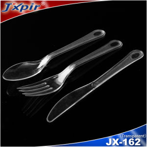 Black Plastic Factory Heavy Duty Plastic Forks Knives Cutlery pictures & photos