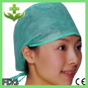 Hubei MEK Disposable Surgical PP Non Woven Doctor Cap (elastic) pictures & photos