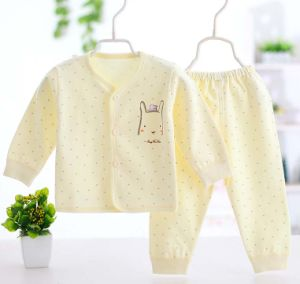 100% Cotton Newborn Baby Underwear Set Long Sleeve Trousers Apparel pictures & photos