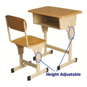 Nursery School Desk with Attached Plastic Chair pictures & photos