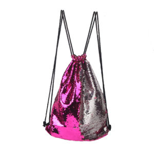 Drawstring Backpack, Sequins Mermaid Magical Color Changing Gym Sport Bag, 8 Different Colors pictures & photos