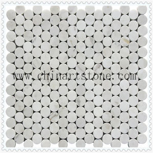 Black Marquina Marble Stone Mosaic Tile for Wall Decoration pictures & photos