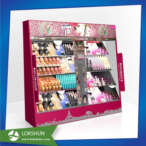 China Factory Supply LED Light Wooden Cosmetic Display Stand pictures & photos
