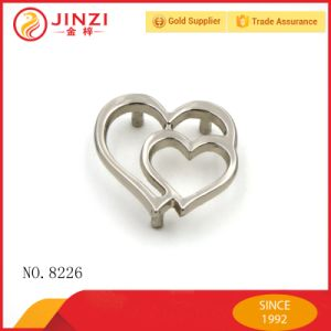 Double Heart Shape Metal Plate with Screw Bag Hardware pictures & photos