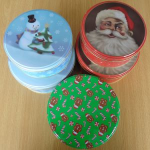 Christmas Tin Box for Candy Biscuit Cookies pictures & photos