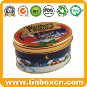 Oval Shape Christmas Tins for Gift Tin Box, Tin Cans pictures & photos