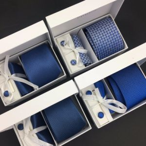 100% Silk Jacquard Woven Men Gift Necktie Set pictures & photos