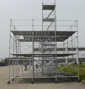 Zds Walk Thru Frame Scaffold with Flip Lock Scaffolding pictures & photos