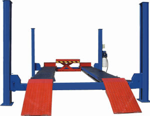 Four Post Hydraulic Car Lift with Scissor Jack (QJY435) pictures & photos