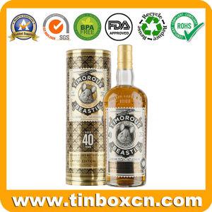 Round Whisky Tin Box, Vodka Tin Can, Vsop Wine Tins pictures & photos