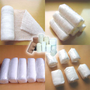 A153 Disposable Medical PBT Elastic Cotton Gauze Crepe Bandage (Conforming)