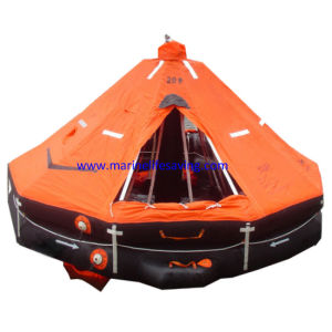 Davit-Launching Inflatable Life Rafts Exchange for Marine Training pictures & photos